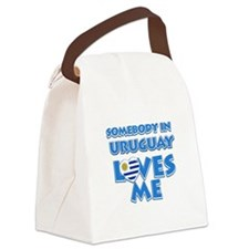 Somebody in Uruguay Loves me Canvas Lunch Bag