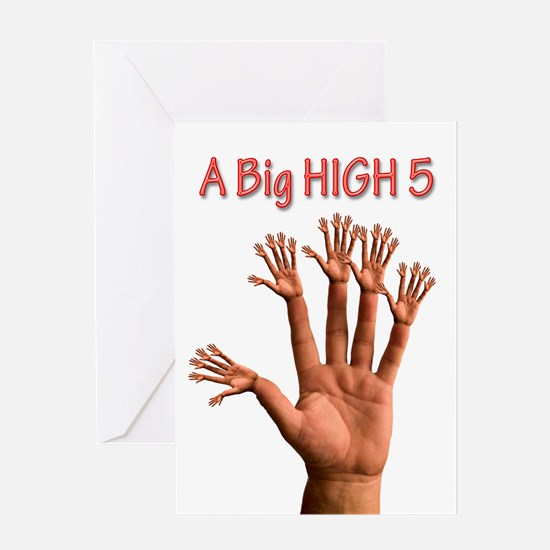 A Big Birthday High 5 Greeting Cards