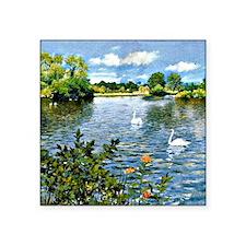 "A Long Island Lake, William Square Sticker 3"" x 3"""