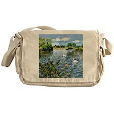 A Long Island Lake, William Merritt  Messenger Bag