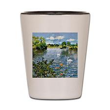A Long Island Lake, William Merritt Cha Shot Glass