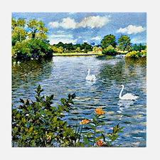 A Long Island Lake, William Merritt C Tile Coaster