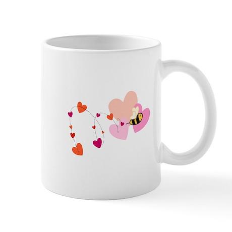 Valentine Bumble Bee Mug