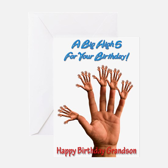 For grandson, A Big Birthday High 5 Greeting Cards