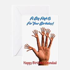 For grandad, A Big Birthday High 5 Greeting Cards