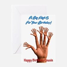 For cousin, A Big Birthday High 5 Greeting Cards