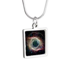 Helix Nebula Silver Square Necklace