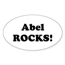 Abel Rocks! Oval Decal