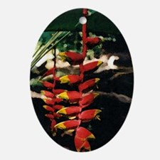 Heliconia series 2 Oval Ornament