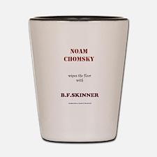 Chomsky VS. Skinner Shot Glass