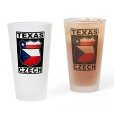 Texas Czech American Drinking Glass
