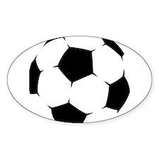 Black Soccer Ball Decal