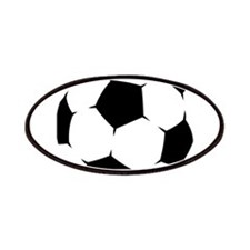 Black Soccer Ball Patches