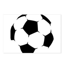 Black Soccer Ball Postcards (Package of 8)