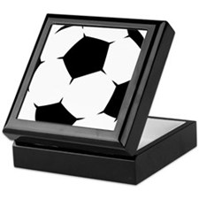 Black Soccer Ball Keepsake Box