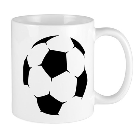 Black Soccer Ball Mugs