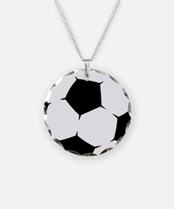 Black Soccer Ball Necklace