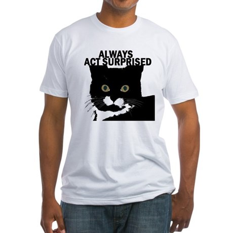 tuxedocat02 Fitted T-Shirt