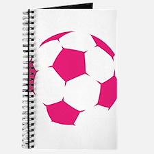 Pink Soccer Ball Journal