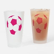 Pink Soccer Ball Drinking Glass