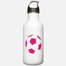 Pink Soccer Ball Water Bottle