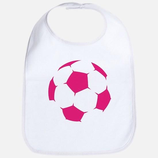 Pink Soccer Ball Bib
