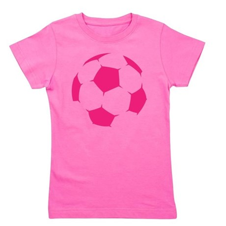 CafePress Pink Soccer Ball Girl's Tee