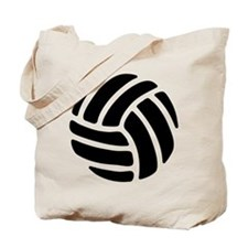 Black Volley Ball Tote Bag