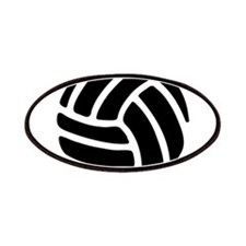 Black Volley Ball Patches