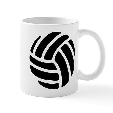 Black Volley Ball Mugs