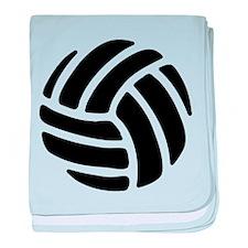 Black Volley Ball baby blanket