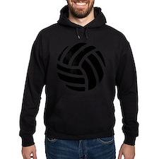Black Volley Ball Hoodie