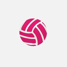 Pink Volley Ball Mini Button