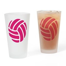 Pink Volley Ball Drinking Glass