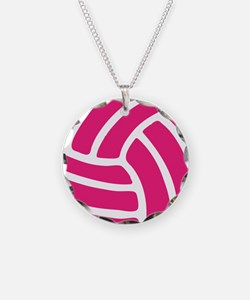 Pink Volley Ball Necklace
