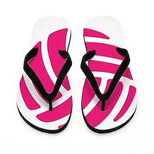 Pink Volley Ball Flip Flops