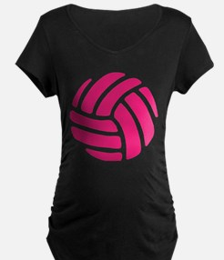Pink Volley Ball Maternity T-Shirt