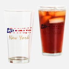 Brooklyn Flag Drinking Glass