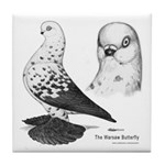 Warsaw Butterfly Pigeon Tile Coaster