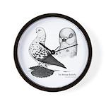 Warsaw Butterfly Pigeon Wall Clock