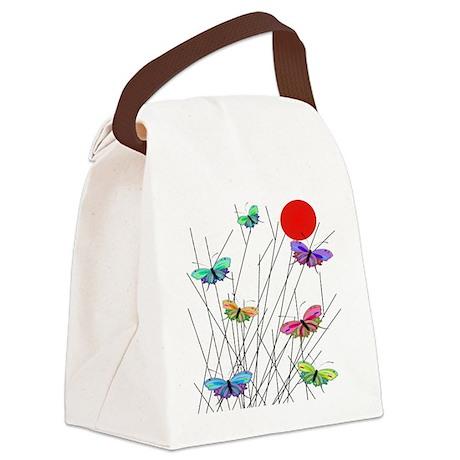 Butterflies Canvas Lunch Bag
