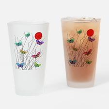 Butterflies Drinking Glass
