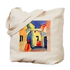 August Macke painting, A Glance Down an A Tote Bag