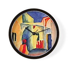 August Macke painting, A Glance Down an Wall Clock