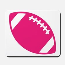 Pink Football Mousepad