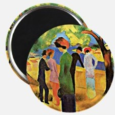 August Macke painting, Woman in a Green Jac Magnet