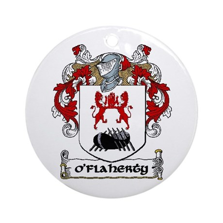 O'Flaherty Coat of Arms Ornament (Round)