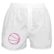 Pink Basket Ball Boxer Shorts