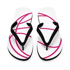 Pink Basket Ball Flip Flops