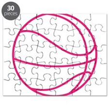 Pink Basket Ball Puzzle